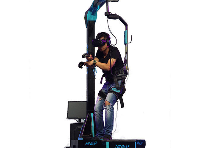 Easy Operate Virtual Reality Walking Platform / 9D VR Simulator For Amusement Park